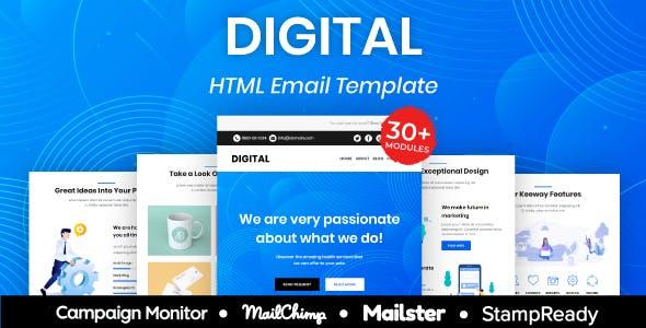 Digital - Multipurpose Responsive Email Template 30+ Modules Mailchimp