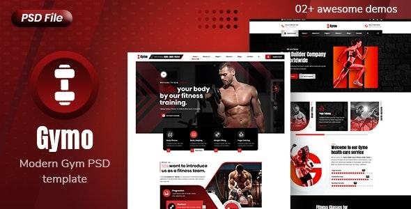 Gymo -  Modern Gym and Fitness PSD Template - Health & Beauty Retail