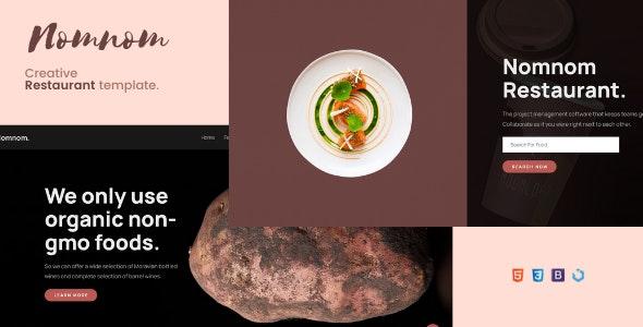 Nomnom — Creative Restaurant Template - Restaurants & Cafes Entertainment