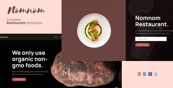 Nomnom — Creative Restaurant Template
