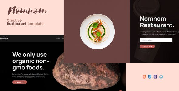 Download Nomnom — Creative Restaurant Template
