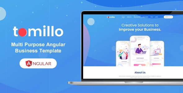 Tomillo - Bootstrap 4 Angular Multi Purpose Multi Pages Template - Business Corporate