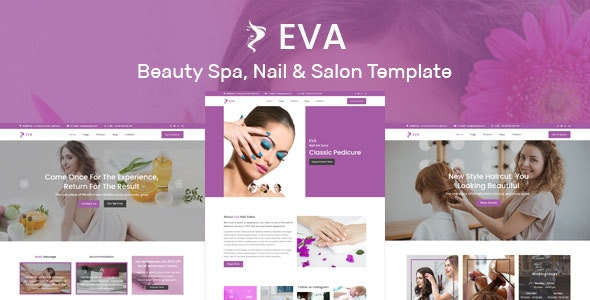 EVA- Beauty Spa, Nail & Salon Muse Template - Corporate Muse Templates