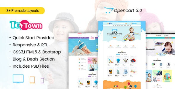 Toytown - Kids Clothing & Toys Opencart Theme - Shopping OpenCart