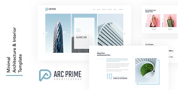ARC PRIME - Minimal Architecture & Interior Template - Corporate Site Templates