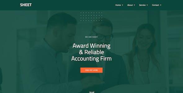 Sheet - Modern Accounting Firm Template Kit