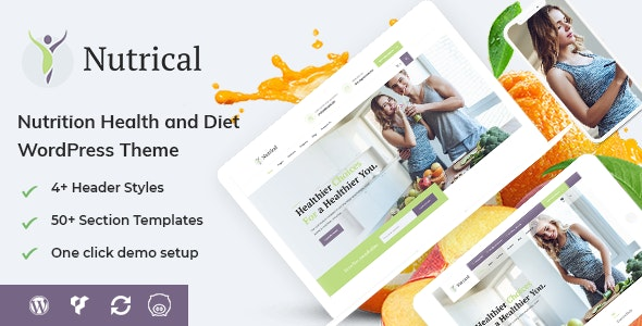 Nutrical - Health and Diet WordPress Theme - Health & Beauty Retail