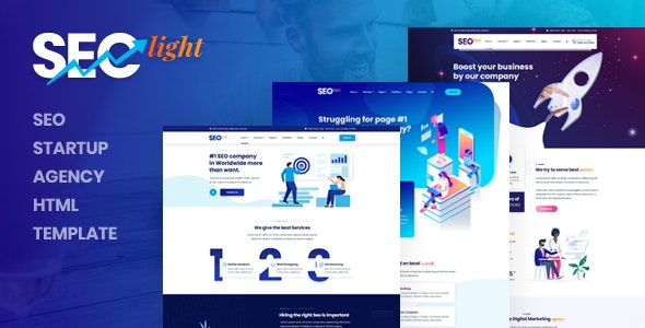 Seclight - Seo Startup Agency HTML Template - Marketing Corporate