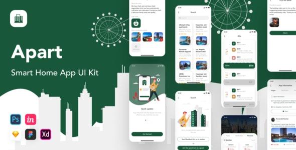 Apart - Smart Home App UI Kit - UI Templates
