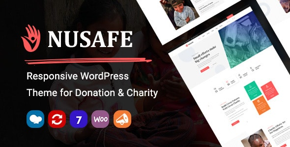 Nusafe | Responsive WordPress Theme for Donation & Charity - Charity Nonprofit