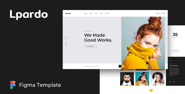 Lpardo — Creative agency Figma Template - Creative Figma
