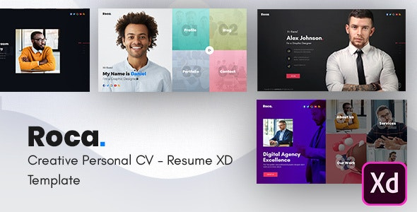 Roca Creative Personal Cv Resume Template By Userthemes Themeforest