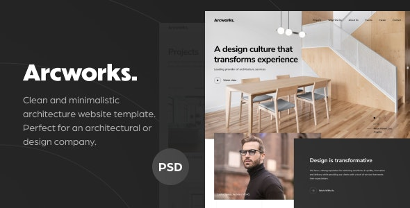 Arcworks — Architecture Firm PSD Template - Business Corporate