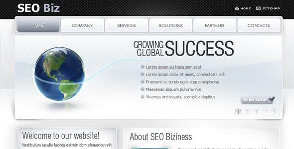 SEO Biz (Clean) - 7 Page Design - Business Corporate