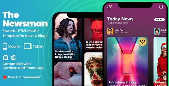 Download Newsman - News & Magazine Mobile Template