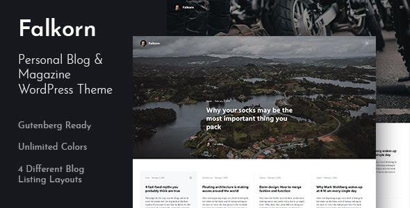 Falkorn - Personal Blog & Magazine WordPress Theme - Personal Blog / Magazine