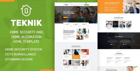 Teknik - Security Services HTML Template