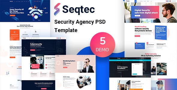 Seqtec - Security Agency PSD Template - Business Corporate