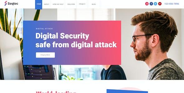 Seqtec - Security Agency PSD Template