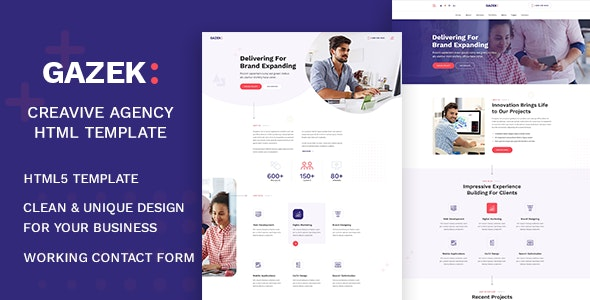 Gazek - Agency Portfolio HTML Template - Portfolio Creative