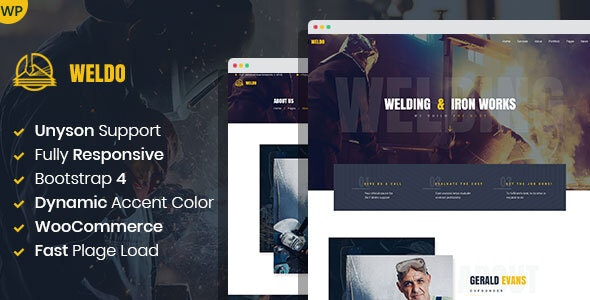 Weldo - Metal Works WordPress Theme - Business Corporate