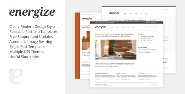 Energize - Clean Creative WordPress Portfolio 1 - Portfolio Creative