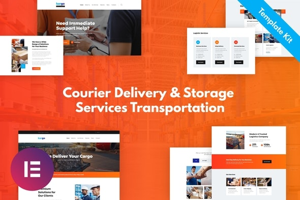 Kargo - Delivery & Storage Template Kit - Business & Services Elementor