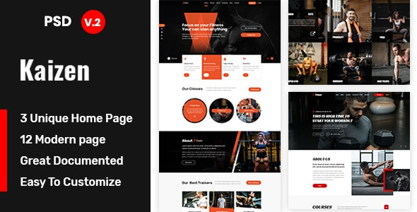 Kaizen – Gym and Fitness Template - Health & Beauty Retail