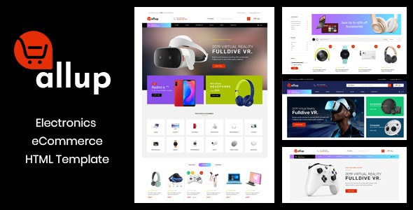 Allup – Electronics eCommerce HTML5 Template - Shopping Retail