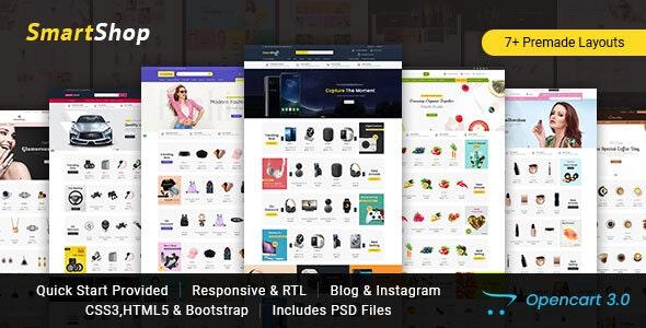 SmartShop - Multipurpose Opencart 3 Responsive Theme - Shopping OpenCart