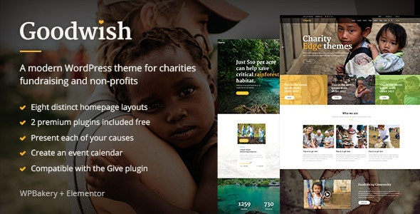 Goodwish - Charity & Nonprofit Theme - Charity Nonprofit
