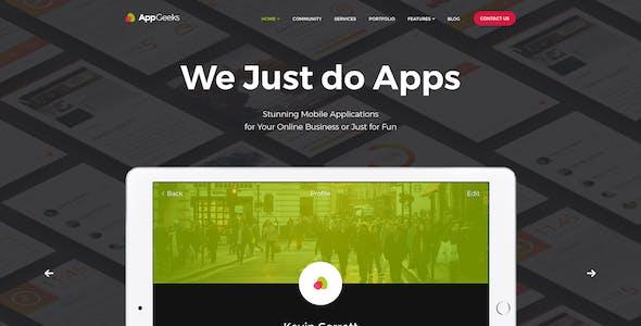 AppGeeks | A Web Studio & Creative Agency WordPress Theme