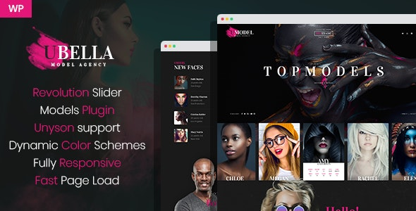 UBella - Model Agency WordPress Theme - Portfolio Creative