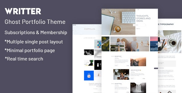 Writter – Ghost Portfolio Theme - Ghost Themes Blogging
