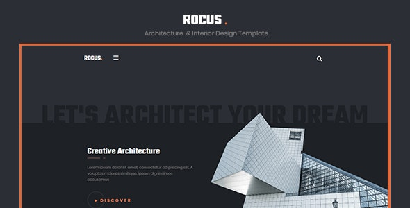 Rocus - Architecture & Interior Design Agency Template - Corporate Site Templates