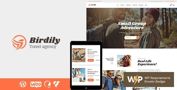 Birdily | Travel Agency & Tour Booking WordPress Theme - Travel Retail