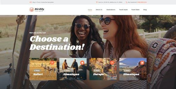 Birdily | Travel Agency & Tour Booking WordPress Theme