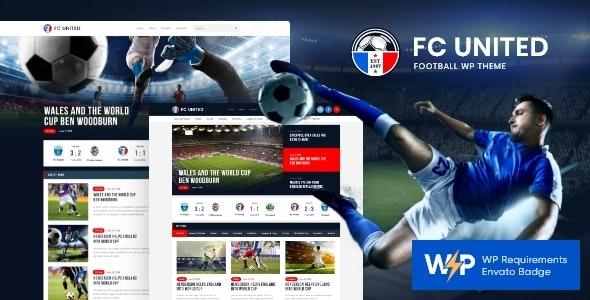 FC United | Football, Soccer & Sports WordPressTheme + RTL - Entertainment WordPress