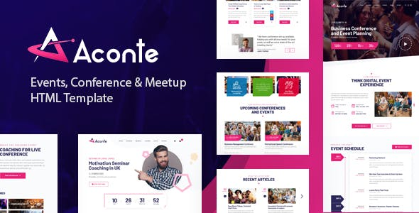 Download Aconte - Events, Conference and Meetup HTML Template