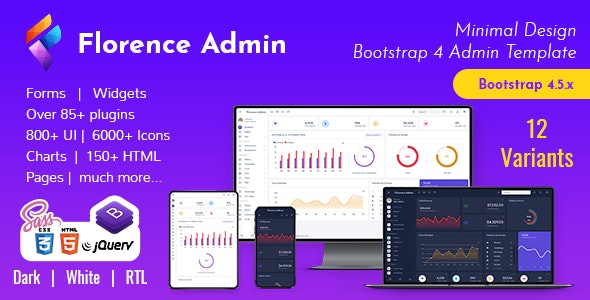 Florence Admin - Bootstrap Admin Dashboard Template & User Interface - Admin Templates Site Templates