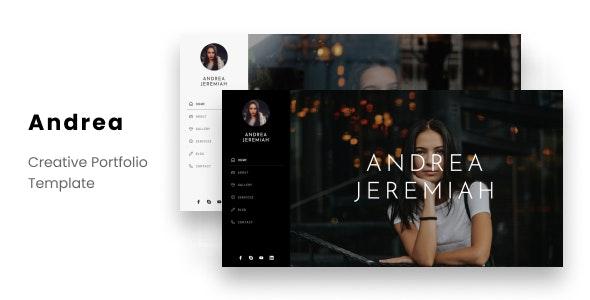 Andrea - Personal Portfolio Template - Personal Site Templates