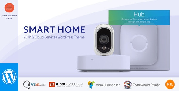 Smart Home - Automation & Security WordPress Theme - Technology WordPress