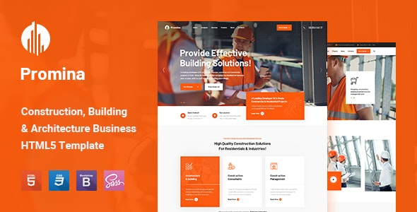 Construction company website templates free download