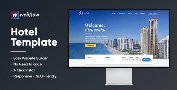 Rodalio Hotel Template   Webflow CMS - Webflow CMS Themes