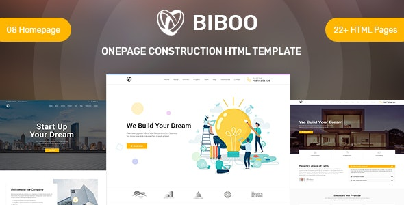 Construction and builder website template