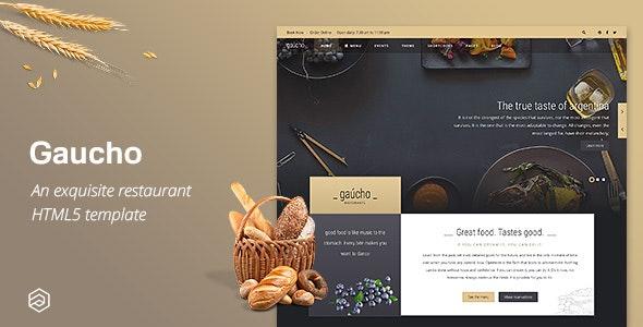 Gaucho - Restaurant HTML Template - Restaurants & Cafes Entertainment