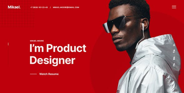 Mikael – Modern & Creative CV/Resume PSD Template