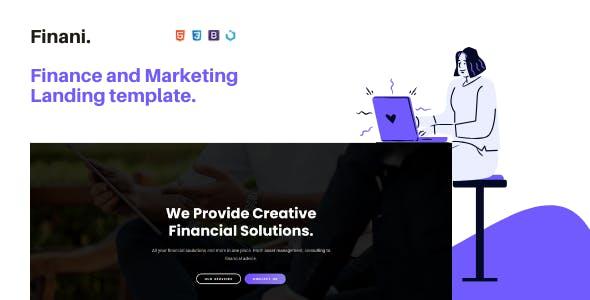 Finani — Finance and Marketing Landing Template