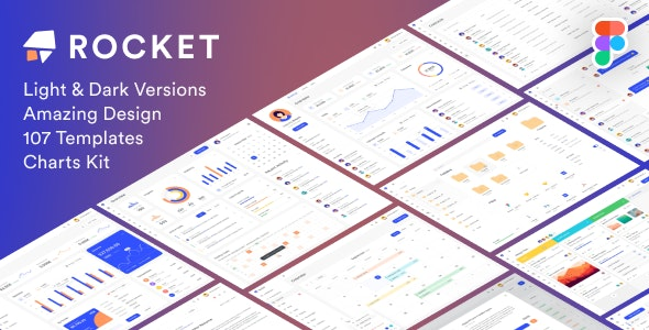 Rocketboard – Admin Dashboard & UI Kit + Charts Kit Figma Template - Figma UI Templates