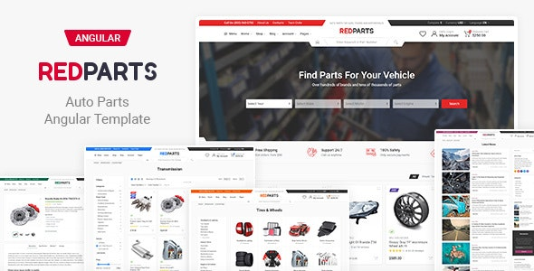 RedParts - Auto Parts Angular Template - Shopping Retail